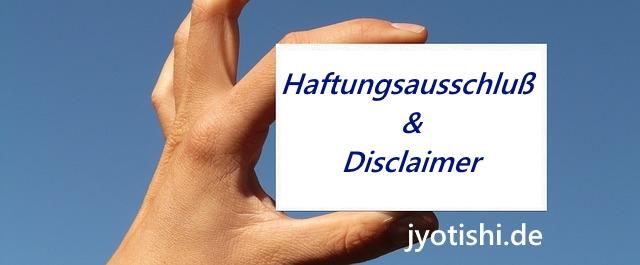 Haftungsausschluss und Disclaimer jyotishi.de