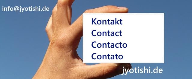 Kontakt, Contact, Contacto Ganusch jyotishi.de